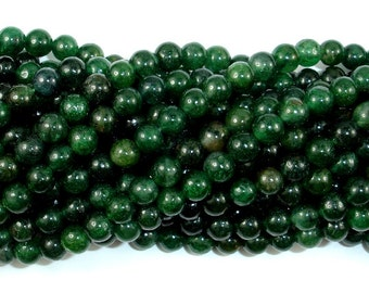 Indian Jade Beads, Round, 6 mm (6.5 mm), 15.5 Inch, Full strand, Approx 65 beads, Hole 1 mm (287054028)