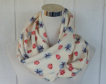Infinity Scarves - Scarves - Accessories - Scarf - Loop Scarves -  Cream Scarf - Vintage Scarf