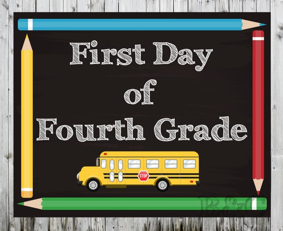First and Last Day of School Printable Sign First and Last