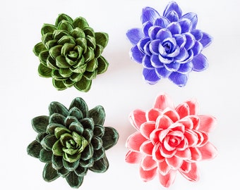 Handmade crepe paper succulent, paper flowers, decoration, Summer, Spring