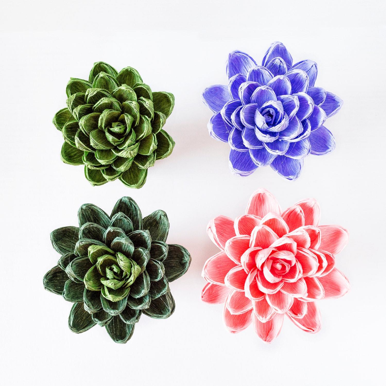 Handmade crepe paper succulent paper flowers decoration zoom dhlflorist Choice Image