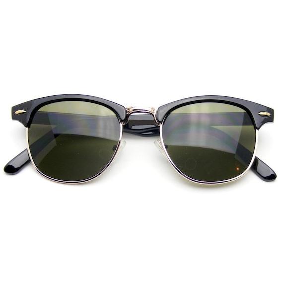 Half Frame Vintage Glasses : Classic Half Frame Vintage Clubmaster Wayfarer by ...