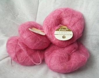 Emu Filigree mohair yarn pink