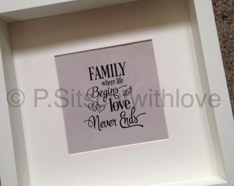 Family where life begins and love never ends SVG cut file