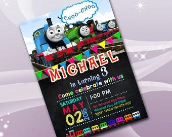 items similar to thomas the train invitation birthday ticket style digital print it yourself