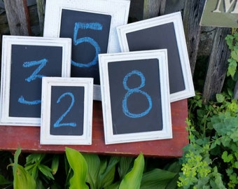 Wedding table number chalkboards