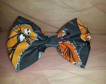 Awesome whole body Jack Skellington fabric hair bow.