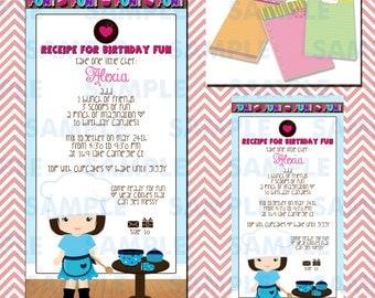 Cupcake Decorating Party Invitations 7