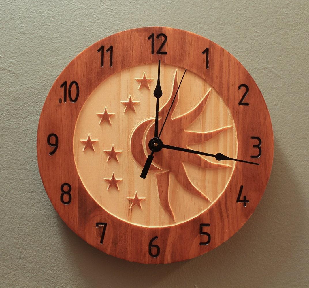 Pine celestial sun and moon clock celestial clock sun clock zoom amipublicfo Choice Image