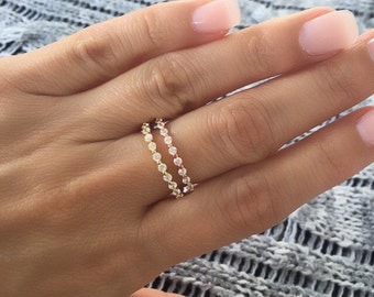Round cz eternity band ring. Silver eternity ring. Gold cz eternity band. Silver band. Band ring. Stackable ring. Eternity band rings.