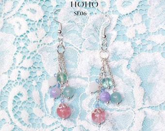 Silver Water Drops Earrings SE05-SE06
