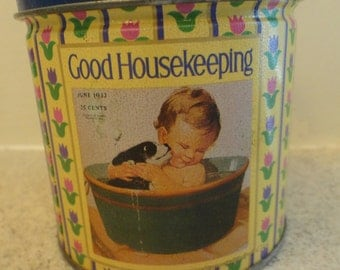 Good Housekeeping tin/ Vintage tins/ Collectible tin/ Vintage advertising