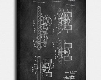 Skateboard Canvas Print, Skateboard Patent,  Vintage Art,  Blueprint,  Poster, PatentPrints, Wall Art, Decor [SA155-1C]