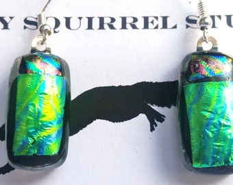 "Fused Dichroic Art Glass -- ""Scarab"""