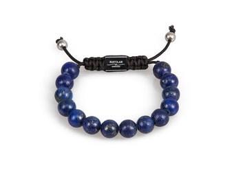 Lapis Lazuli Gemstone Bead Bracelet