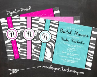 Zebra Print Digital Bridal Shower Invitation