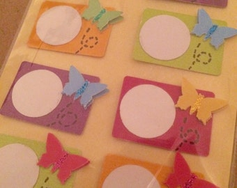 Pop-Up Butterfly Labels/Tags