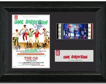 One Direction 35 mm Framed Film Cell Display Stunning Signed