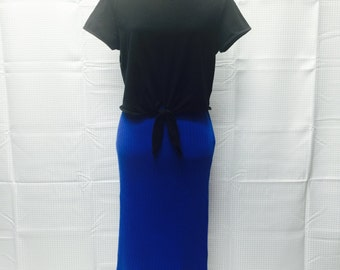 Vintage A-line skirt from the80's perfect blue skirt.