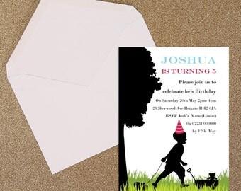 Silhouette Children's Garden Party Invitation