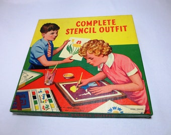 Complete Stencil Outfit / Stencil Kit / Spear Games