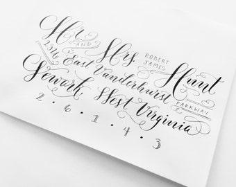 Hand Lettered Envelope Addressing // Calligraphy // Elaborate Style