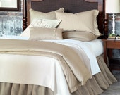 """Natural  Linen bed skirt - King size 76"""" x 80"""" (193 x 203 cm).  Available in any bed sizes."""