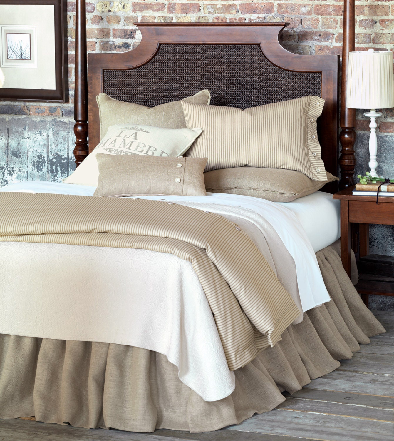 king bed skirt linen bed skirt king size 76 x 80 193 x 203 cm 980