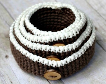 Crochet Nesting Bowls THE RUMNEY four rustic containers