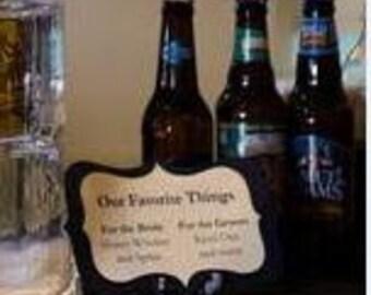Signature Drink Sign Wedding Custom Colors