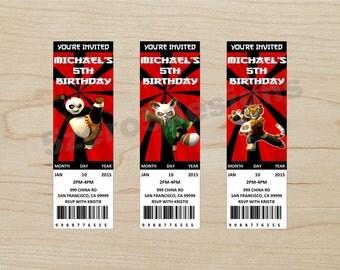 kung fu panda invitation, kung fu panda party, kung fu panda birthday, kung fu panda. kung fu panda ticket invitation, digital download