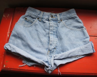 Vintage St Michael Retro Jean Short Shorts Size UK 10 US 6 38