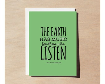 Greeting Card - William Shakespeare - The Earth