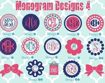 Monogrammed Vinyl Decals - Monogrammed Decals - Monogram Vinyl - monogram car decal - car sticker - monogram vinyl decal - monogram sticker