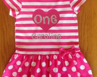 Pink First Birthday Shirt