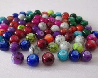 90 speckled bead mix color 6mm