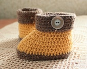 Baby booties crocheted dress and a gift for a newborn baby boy and girl shoes for children warm booties