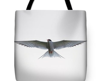 White bag, white tote, bird bag, bird tote, arty bag, birthday gift, gym bag, shopping bag, everyday bag, reusable grocery bag, book tote