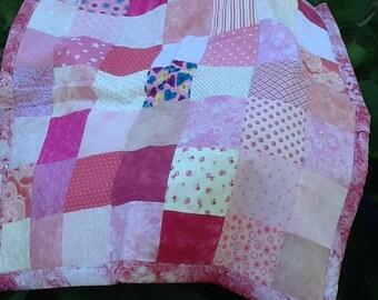 Pink Patchwork Crib Quilt