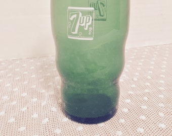 Vintage 7UP Green Glass