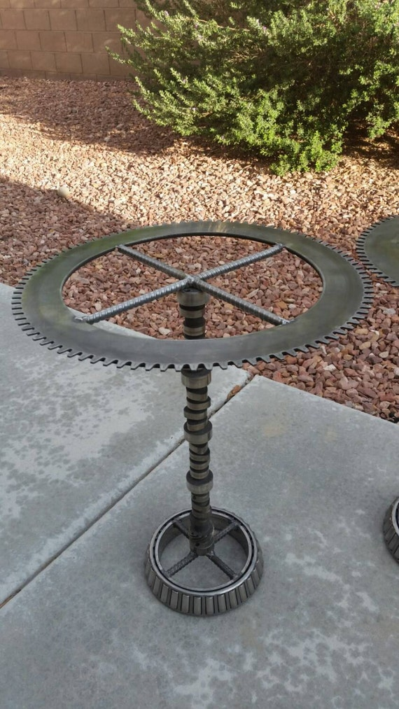 Upcycled Industrial end Table