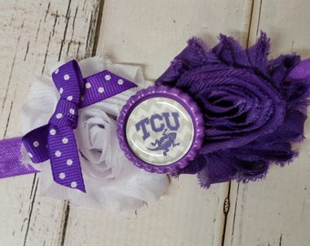 Texas Christian university Horned Frogs elastic headband - baby - toddler - child - adult