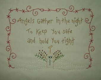 Primitive Stitchery~Angels Gather In The Night....