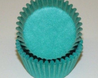Teal Cupcake Liners - 50 Count *FREE SHIPPING*