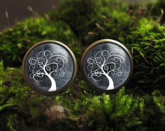 tree stud earrings nature earrings tree of life stud earrings tree earrings tree earring studs small stud earrings tree of life jewelry
