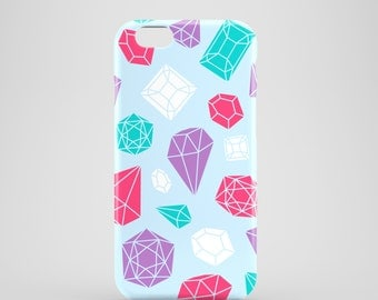 Gemstones phone case / Bright iPhone 6S case / ladies iPhone 7 case / iPhone 7 Plus / iPhone 6 / iPhone 5/5S, Se / Samsung Galaxy S7, S6
