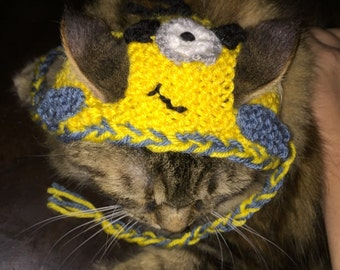 Minion dog cat hat costume