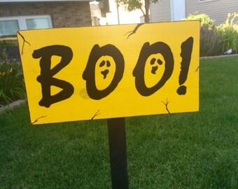 Boo, Ghost Halloween Yard Sign
