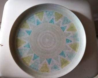 Melmac Melamine Green Atomic Sunburst Dinner Plates - Set of 4 - Boonton