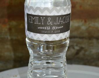 Water Bottle Labels, Printable Wedding Favor, Bridal Shower, Personalized Labels, Bridal Shower Favor, Water Bottle Label for Wedding